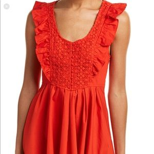 Free People red mini. New. Size M